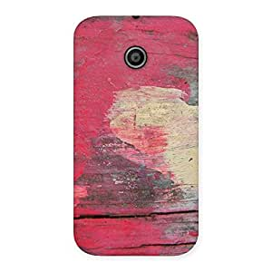 Enticing Vintage Red Yellow Print Back Case Cover for Moto E