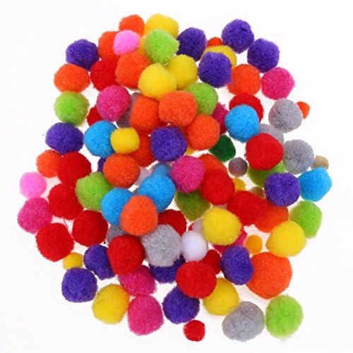 JUNERAIN Plüsch Ball Pom Pom Ball Haar Ball Nähen Garland Handwerk Heimtextilien Handgemachte Acryl Plüsch Ball Farbigen Plüsch Ball -
