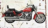 Yamaha XV1600 RoadStar 2001 Aged Vintage Photo Poster Print A4