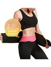 53e59d4b56 Frackkon Sweat Sliming Belt Hot Body Shaper Waist Shapers Wrap Fat Burning  Wait Protective Neoprene Neotex