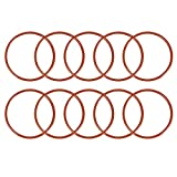 sourcing map 10pcs Silikon O-Ring VMQ Siegel Ring Dichtung Rot 64mmx57,8mmx3,1mm DE