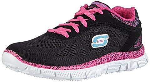 Skechers Appeal Island Style, Sneakers Basses fille, Noir (Noir/Rose), 31 EU (12.5 UK)