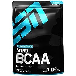 ESN Nitro BCAA Powder, Raspberry Iced-Tea, 500g