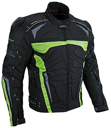 "Kurze Textil Motorradjacke Heyberry Modell ""Blizzard"" Neongrün Gr. XL"