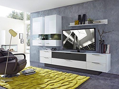 Wohnwand Mediawand Anbauwand Schrankwand Wohnzimmerschrank Schrank