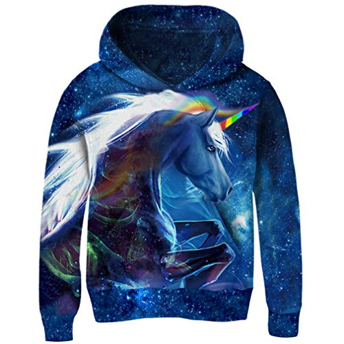 AIDEAONE Unisex 3D Digital Print Hoodie Casual Pullover Hooded Sweashirt Jacket with Pockets Hooded Warm Up Jacket