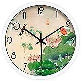 La flor de loto cuarto reloj reloj reloj de cuarzo reloj de pared,35 * 35 cm