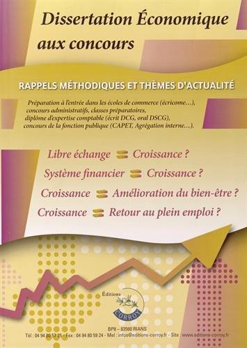 Dissertation économique aux concours : ...