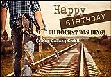 Glückwunschkarte zum Geburtstag * Mann mit Gitarre