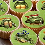 24 Kuchen Topper 4 cm auf Zuckerguss Cupcake Bilder – ND2 TMNT Teenage Mutant Ninja Turtles