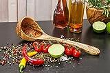 Schöpflöffel Schöpfkelle Löffel Kelle Suppenkelle aus 100 % Olivenholz BIO nur bei uns einzigartige Herstellung 5 Jahre Garantie