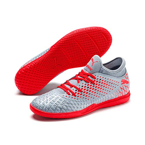Puma Future 4.4 It, Chaussures de Futsal Homme, Gris (Glacial Blue-Nrgy Red-High Risk Red 01) , 43 EU