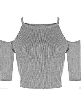 Home of Fashion - Maglia a manica corta spalle tagliate