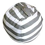 Artbro Peluche Peluche Hamac de rangement Grande couverture Taille Vêtements d'enfants Tapis de poupées de stockage à rayures Bean Bag, gris, Small...