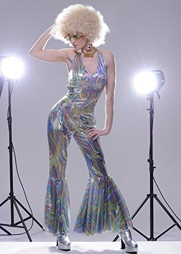 Abba Kostüme Uk Dress Fancy (Frauen 70s Disco Abba Stil Tanzen Königin Kostüm Medium (UK)
