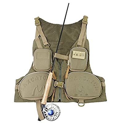 Maxcatch Access Fly Fishing Vest Adjustable Size Ultra-light Pack by Maxcatch