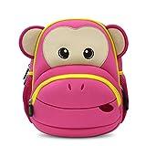 NohooHaha 3D Affe Kinderrucksäcke für Kindergarten,Schule und Wandern,für 2-5 Jahre Mädchen und Jungen