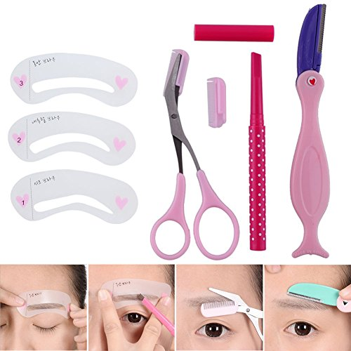 Generic ooming trimr Stil Schere Styles Augenbrauenstift Vorlage Gestaltung Rasierer Pflege Feinbau-Set Augenbrauen Penc -