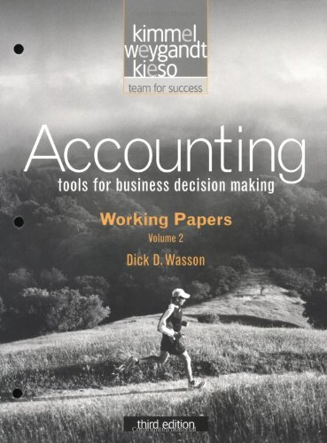 Accounting, Working Papers, Volume 2, Chapters 14-23: Tools for Business Decision Making: Working Papers v. 2