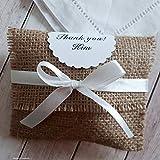 16 personalisierte Gastgeschenke Geschenktaschen Danksagung Geschenk Tischdeko Platzhalter zur Taufe Kommunion Konfirmation Hochzeit rustikal Handarbeit binnbonn