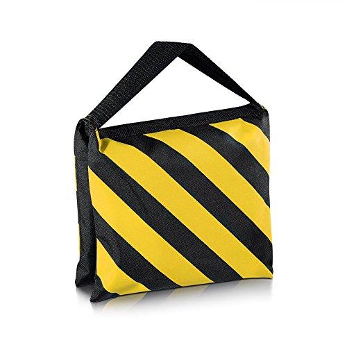 Neewer® Negro/Amarillo Resistente Bolsa de Arena Saco de Arena Fotográfica de Estudio Vídeo para Luces, Jirafas, Trípodes