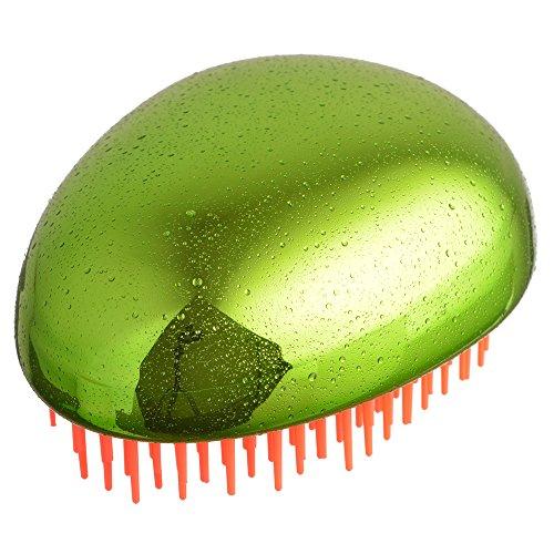 Brosse à cheveux métallique Green pour cheveux ent nœuds