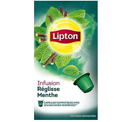 Lipton Infusion Réglisse Menthe 20 g - Lot de 4