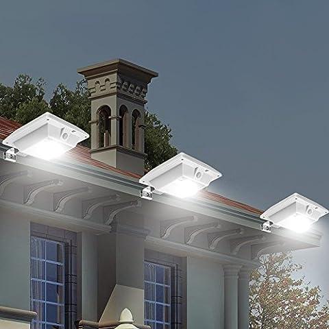 Solaire Motion Sensor Light Outdoor 150LM Brighter Conception / PIR Sensor Solar Powered LED / Etanche Durable / Clôture mur Allée Garden Patio Chemin Decking Lumière / Améliorer la sécurité / Un must-have pour la qualité Easy Life extérieure