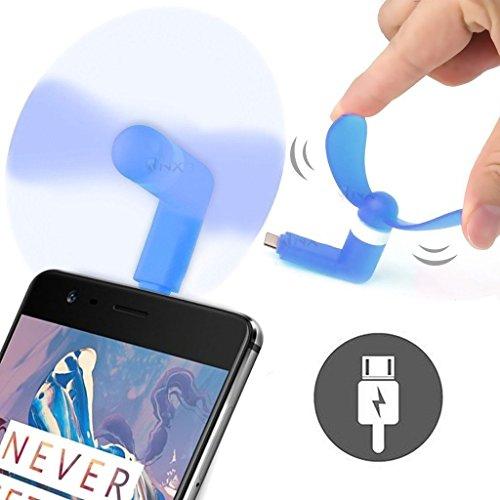 ONX3® Blau Alcatel OneTouch Pop Icon-Mobile-Handy beweglicher Taschen-Sized Fan-Zusatz für Android Micro USB-Anschluss Smartphone (Onetouch Pop Icon Alcatel Handy)