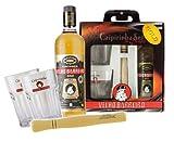 Caipi-Set VELHO BARREIRO Gold I - Fl. Cachaca+Stampfer+2 Gläser+Geschenkverpackung