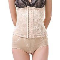 Para Mujer Corsé Inferior Ropa de dormir,Sexy Jacquard-Medio Nailon Beige , beige , 3xl