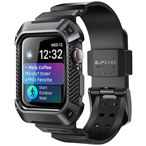SupCase Apple Watch 4 Armband 44mm Apple Watch Band Robust Hülle Ersatzarmband Sport iWatch Case Schutzhülle [Unicorn Beetle Pro] für Apple Watch Series 4 [44mm] 2018 Ausgabe (Schwarz)