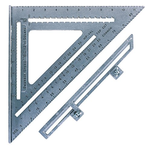 Swanson Tool S0107 12-Inch Speed Square Layout Tool with Blue Book