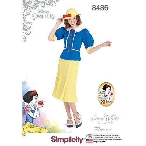 Damen 1930er Kostüm Jahre - Simplicity 8486 Schnittmuster 8486 Damen Kleid und Hut, 1930er Jahre, Papier, R5, Gr. 44-52