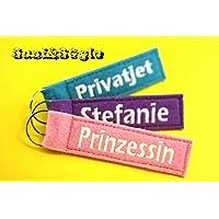 Schlüsselanhänger mit Name / Wunschname / Schlüsselband mit Wunschtext / Schlüsselanhänger mit Gravur
