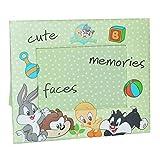 Unbekannt Fotorahmen Looney Tunes - Tweety Bugs Bunny Hase - Bilderrahmen für Foto´s Kinder - Standrahmen Rahmen grüne Punkte