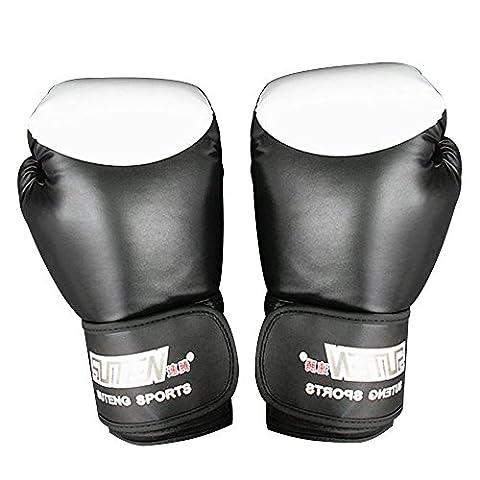 Gants de boxe, Adiprod Pro Style Gants de boxe pour kickboxing Sparring MMA Punch Sac de frappe Pads d'entraînement, noir