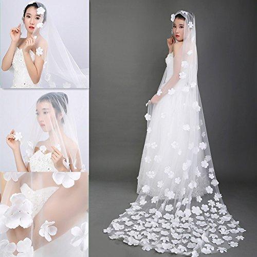 DuZiShi-fs Petalo di velo..--super lunga coda filato copricapo - coreana sposa velo da sposa , 300cm