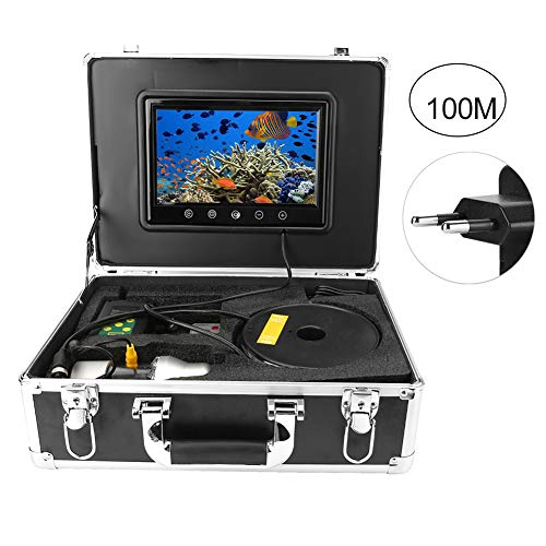 """Tragbare 1/3""""HD CCD IP68 wasserdichte Rate 9"""" Unterwasserfischfinder-Videokamera für Meeresbodenerkundung, Hochseefischen und Eisfischen, Brunneninspektion(1)"""