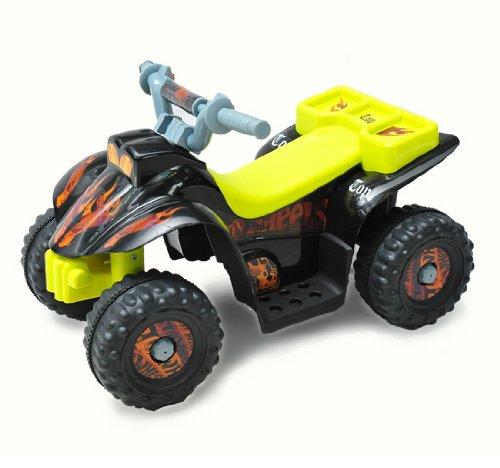 *Homcom® Kinderauto Kinderwagen Elektroauto Kinderfahrzeug Kindermotorrad Quad Elektroquad Kinderquad Elektromotorrad (Elektroquad/gelb-schwarz)*