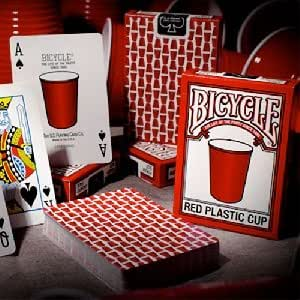 Mazzo di carte Bicycle - Red Plastic Cup - Mazzi Bicycle - Carte da gioco - Giochi di Prestigio e Magia