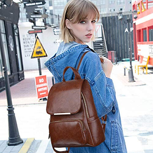 Best ladies backpack in India 2020 ASTIR COLLEEN Leather Backpack for Men/Women (Tan) Image 5