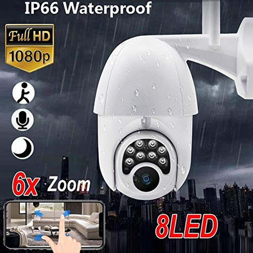Camera Ptz Ip H.265 Zoom Hd 1080P WiFi Ip Camera 8 Night Sq. S. Illumination Waterproof Security Pir Camera Home/Outdoor Monitor British Plug France -