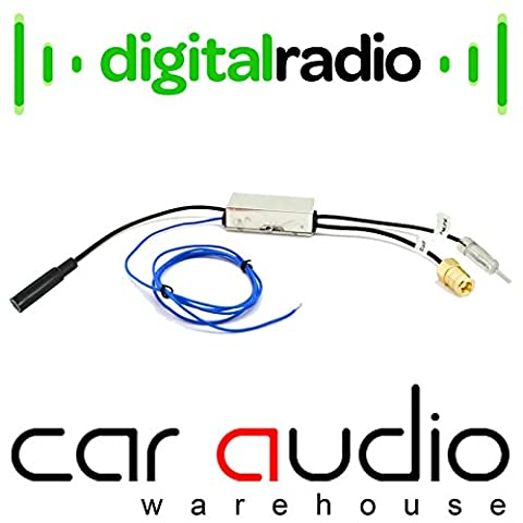 Autoleads PC6-536 DAB Radio Car Stereos Aerial Antenna Splitter for DAB Headunits Sony Kenwood Alpine Pioneer Blaupunkt Clarion Beat JVC Mutant