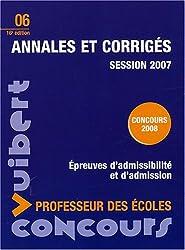 Annales et corrigés : Concours professeur des écoles session 2007