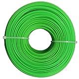 OUNONA 100m 2mm Trimmer ligne ronde en nylon ficelle extérieure faucheuses Power Line (vert)