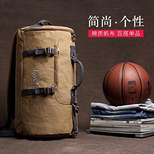 LongBao Männer Single Schultertasche canvas von Tourismus und Freizeit Studenten Schulmappen pc dual Umhängetasche Reisetasche von Jugend, die standardmäßig in den folgenden Ausdrücken (Jugend-express)