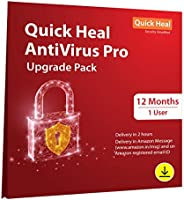 Quick Heal Antivirus Pro- Renewal Pack - 1 User, 1 Year (Email Delivery in 2 Hours - No CD)-Existing Quick Hea