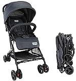 Luvlap Cruze Stroller Pram with Compact Tri-fold, Black