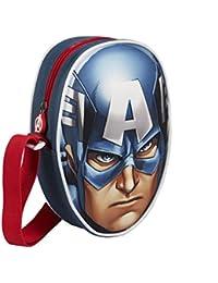 Cerdá Capitán América - Bolso Bandolera, Azul, 18 cm